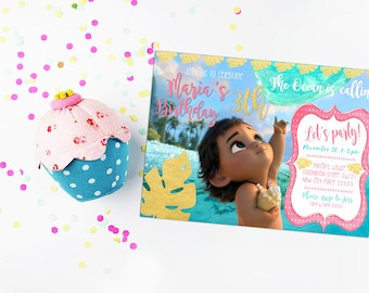 moana invitation etsy