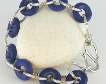 Lapis Lazuli bracelet with 925/-silver, lapis lazuli bracelet, Bottazzi stony Lienz, from 108