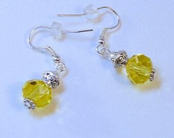 YELLOW CRYSTAL LANTERN Earrings