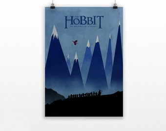 Hobbit poster - Lord of the Rings poster print - gift for him - Tolkien -  lotr art