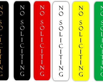 Custom Engraved No Soliciting Sign Vertical