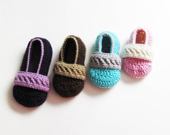 Toddler Strappy Booties CROCHET PATTERN instant download - slippers shoes