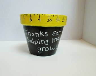 End of the year teacher gift flower pot teacher appreciation teacher gift