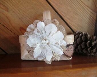 Rustic Flower Girl Basket, Flower Girl Basket, Wedding Basket, Burlap Flower Girl Basket, Rustic Wedding, Basket for Flower Girl