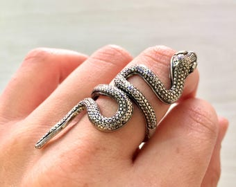 Boho Snake Ring | Snake Ring | Snake Ring | Vintage style Jewelry | gift for her | Silver Tone | Statement Jewelry | Hippie Jewelry | gift