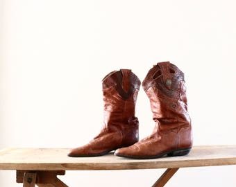 1970's whiskey boots / 8