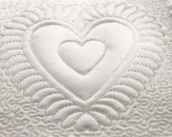 Machine Embroidery Design - Heart # 1 Quilting Block  4 sizes