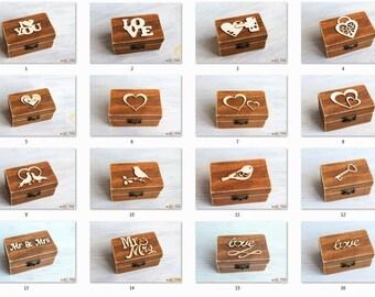 Ring Bearer Box, Wedding Ring Box, Personalized Ring Box, wedding ring holder, Wedding Ring Holder Pillow Bearer Box Wood Box Rustic wedding