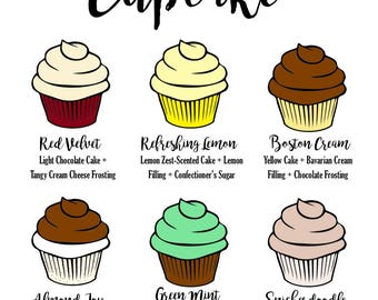Custom Cupcake Flavor Printable Sign | Perfect for weddings, baby showers, birthday parties, bridal showers, etc.!