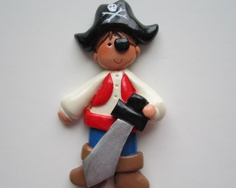 LAST ONE....Pirate Christmas Ornament/Personalized/Boy