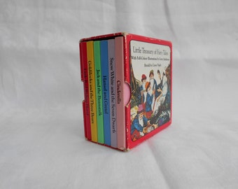 "Vintage Book Set ""Little Treasury of Fairy Tales""  Childrens Boxed Set - 1984"
