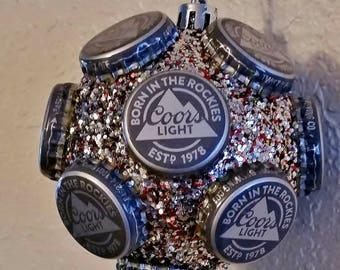 Coors Light beer bottle cap ornament