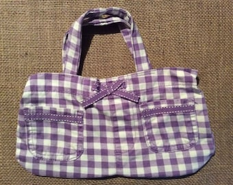Purple Plaid Mini Purse