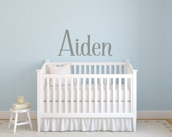 Personalized Childrens Wall Decal - Boys Name Wall Decal - Nursery Wall Decal - Personalized Name Decal - Vinyl Wall Decal - Nursery Decor