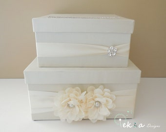 Ivory Wedding Card Box Money box Memory Box wedding card