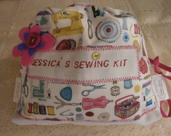 Personalized Sewing set for children/Personalized  Kids sewing/Personalized Craft set in sewing collage