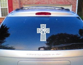 Christian Gift, Spiritual Gift, Inspirational Gift, Cross Window Decal, Car Window Decal, Car Decal, Car Window Decal, Cross Decal Car Decal
