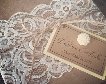 40......A Full set of Wedding Invitations....a set of 40......your complete rustic wedding invites ! DIY available