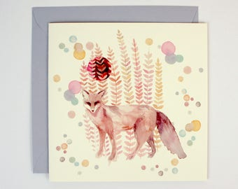 Greeting Card - Fortune Fox