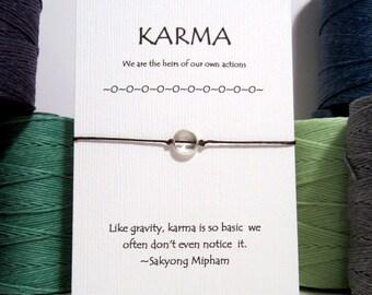 Silver Itty Bitty Karma Bracelet