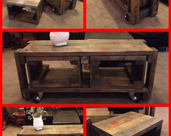 """Industrial Pallet coffee table """"NEST"""" 3 tables in 1"""