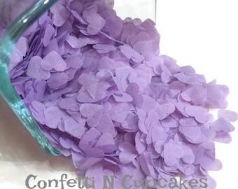 Heart Confetti, Lavender Heart Tissue Paper Confetti, Purple Tissue Hearts, Table Scatter, Confetti Balloon, wedding decor, wedding toss