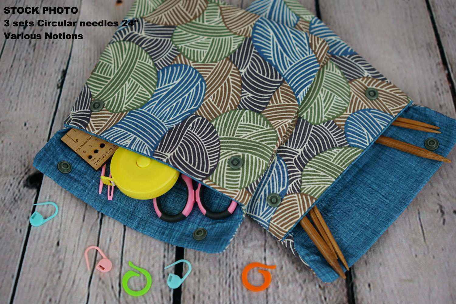 Squirrel Circular Knitting Needle Case or Notions case for Knitting ...