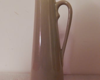 Vintage . Unusual  USA Pottery Pitcher . Tall & Thin