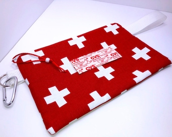 "9.5"" x 6"" First Aid Bag, Heavy Ripstop Lining, Heavy Duty First Aid Pouch, Travel First Aid Pouch, Back to School Bandage Bags"
