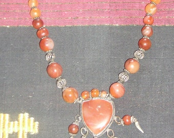 necklace - red agate
