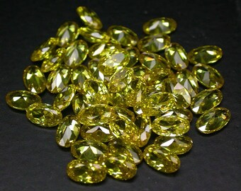50 pcs. 5 x 3 mm. Yellow sapphire loose gemstone.