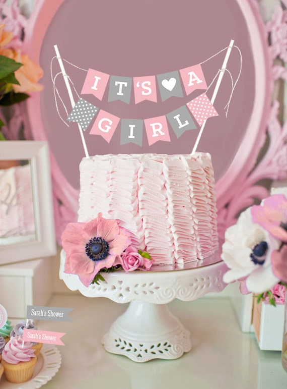 Girl baby shower cake topper baby shower cake decorations for It s a girl dekoration