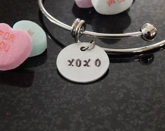 XOXO Bracelet, XOXO Jewelry xo Bracelet xo jewelry, Hugs and Kisses, XOXO Gift, Girlfriend Birthday Gift, Valentine's Day Gift