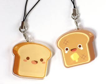 Bread Toast Double Sided Cute Food Charm