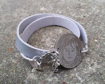 bracelet double tour à graver
