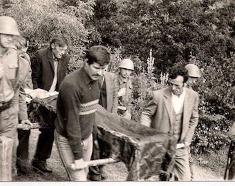 Vintage Photo  Funeral Ceremony Post mortem