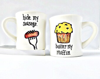 Naughty valentine couples gift, Naughty Wedding Gift, Funny Couples Mugs, Couples Coffee Mug Set, Unique Wedding Mugs, sexy, anniversary,