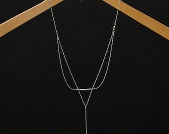 Long Back Necklace - Apollo (BN-05S) Silver
