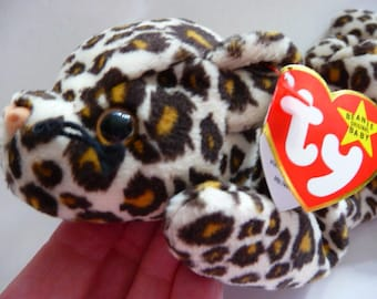 TY Beanie Baby Freckles the leopard | retired | style 4066 | DOB 6. 3. 96. | tag errors | MWMT mint
