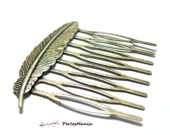 Feather 1 comb hair 52mm bronze bars