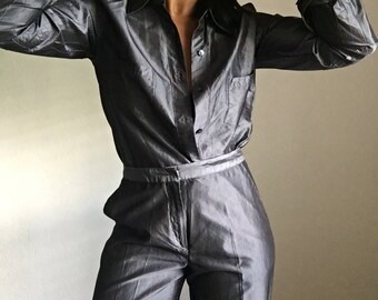vintage silk suit