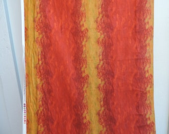 Orange and gold ombre striped fabric