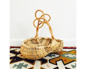 Vintage Branch Handle Gathering Basket