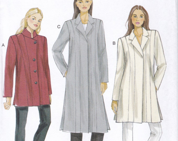 FREE US SHIP Vogue 9134 Sewing Pattern Coat Jacket Mandarin 2015 Size 6/14 14/22 Bust 30 32 34 36 38 40 42 44 Plus Uncut