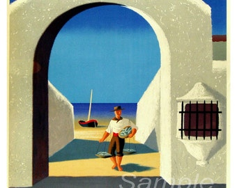 Vintage Spanish Spain Travel Poster Print