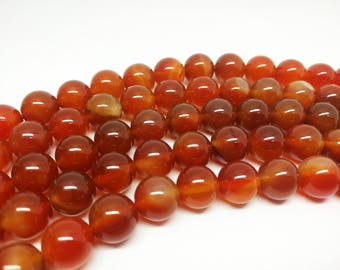 Brown Beads 12mm Brown Agate Beads Fire Agate  Big Beads 12mm Agate Beads 12mm  Beads Bracelet Beads for Jewelry Making Necklace Beads