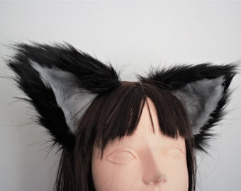 Black and Grey Fox Ears