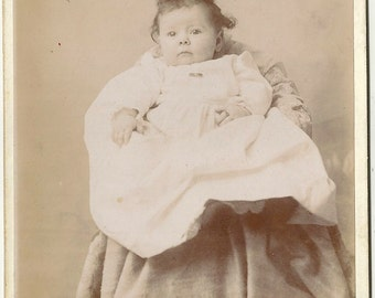 Vintage Woodberry Maryland Baltimore scalloped baby Victorian cabinet card photo Armiger