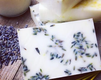 Lavender, honey and lemon soap