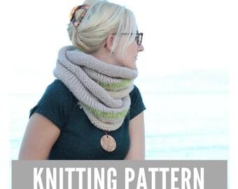 Knitting Pattern / Infinity scarf pattern / Infinity scarf knitting pattern / Knit scarf women / Knit scarf pattern